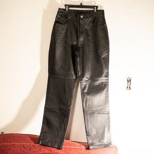 Newport News 100% Leather Pants Jeans Fully Lined
